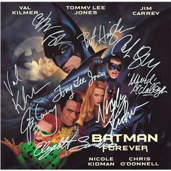 Batman Forever Cast Signed Movie Laserdisc Album