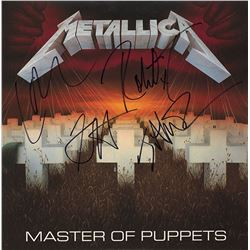 Metallica Band Signed Master Of Puppets Album