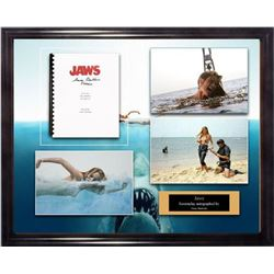 Jaws - Signed Movie Script in Photo Collage Frame