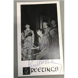 The Beatles Signed Greeting Card All Four Sigs
