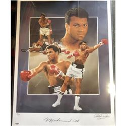 Muhammad Ali Signed Art Lithographic Print