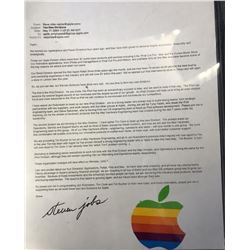 Steve Jobs Signed Printed Apple Email Message