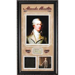Alexander Hamilton Framed Signature Collage