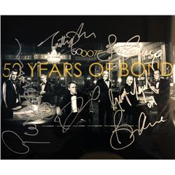 All Bond Actors Signed 50 Years of Bond Mini Poster