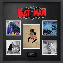 Bob Kane Drawn, Colored & Signed Penguin Sketch Collage