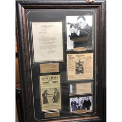 Bonnie & Clyde Killers w/ Hoover and Original Documents Signed Collage