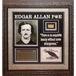 Edgar Allan Poe Framed Signature Collage