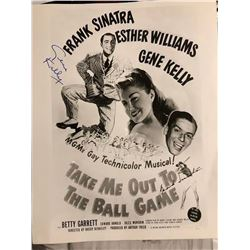 Gene Kelly Signed Take Me Out to the Ball Game Poster