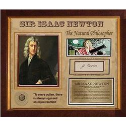 Isaac Newton Framed Signature Collage