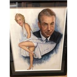 Joe DiMaggio Signed Monroe Art Print