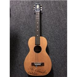 Louis Armstrong Signed and Inscribed Junior Guitar