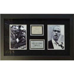 Martin Luther King Jr. & Malcolm X Framed Signature Collage
