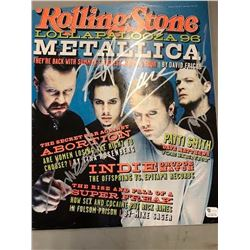 Metallica Signed Rolling Stone Magazine