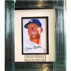 Mickey Mantle Signed Print