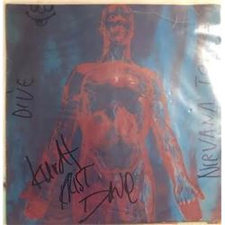 Nirvana Signed Dive 45RPM Record Cover