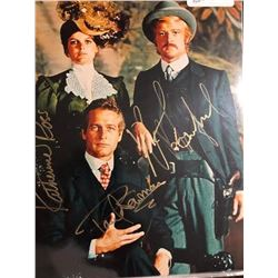 Redford, Newman and Ross Signed Photo