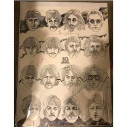 The Beatles Signed 10th Anniversary 16x20 Poster