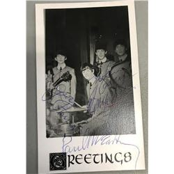 The Beatles Signed Greetings  Photograph