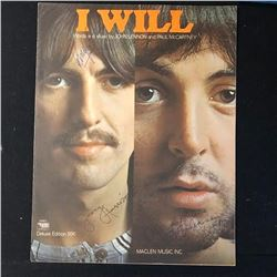 The Beatles Signed I Will Music Book