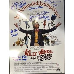 Willy Wonka & The Chocolate Factory Signed Poster