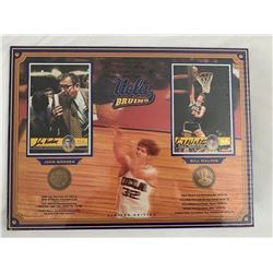 Wooden and Walton Signed UCLA Trading Cards Framed Collage