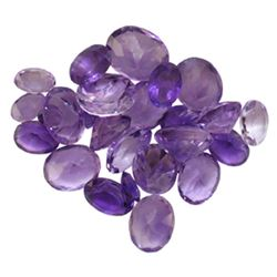 28.54 ctw Oval Mixed Amethyst Parcel