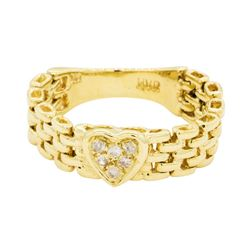 0.10 ctw Diamond Ring - 14KT Yellow Gold