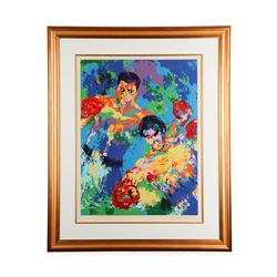 """Ali vs. Foreman Zaire '74"""" by LeRoy Neiman - Limited Edition Serigraph"