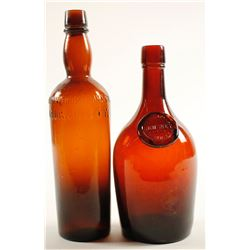 Whiskey Bottles / Southern / 2 Pieces.  (78831)
