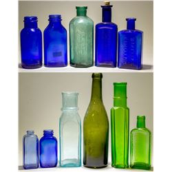 Blue N Green Bottle Collection / 12 Pieces  (78808)