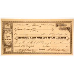 Centinela Land Company of Los Angeles Stock  (170)