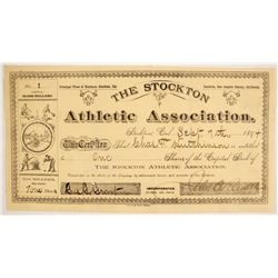 Stockton Athletic Association Stock: NUMBER 1  (86765)