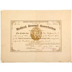 Medical Journal Association of the Mississippi Valley Stock Certificate  (60255)