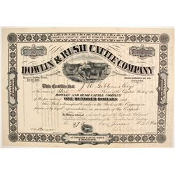 Dowlin and Rush Cattle Company Stock  (87927)
