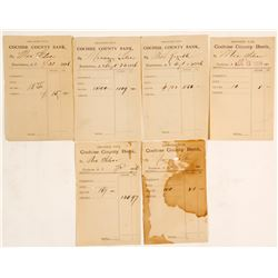 Cochise County Bank Mexican Silver Deposit Slips (6 count)  (61808)