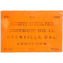 Ticket to the  Seventh Annual Fair Grenville, CA  (61067)