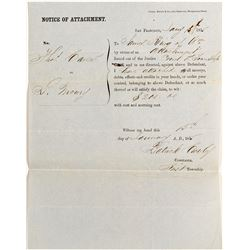 James King of William Notice of Attachment  (44272)