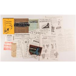 Butte, MT. mining Pictures, Stickers, Receipts, Stickers and a Patch  (50331)