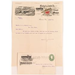 Mitchell & Lewis Wagon Co. Pictorial Letterhead & Cover  (50621)