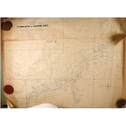 1874 Ross E Browne Map of Silver City, Nevada  (99693)