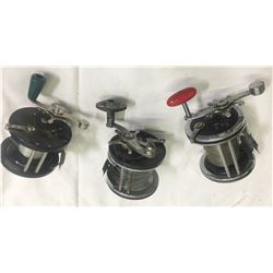 Antique Salt Water Fishing Reels (3)  (87410)