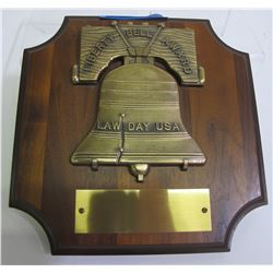 Blank Liberty Bell Award Plaque  (8639)