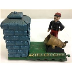 Cast Iron Artillery Bank  (87402)
