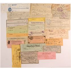 Checks and Receipts 1905-1963 Butte, Montana  (50347)