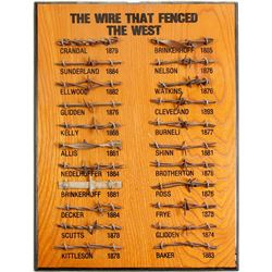 Mounted Barbed Wire Display  (87354)