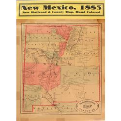 New Mexico Map (New Railroad & County Map)  (59359)