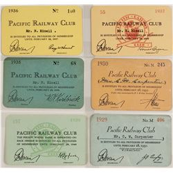 Rail pass for Pacific Railway Club (6 count)  (59946)