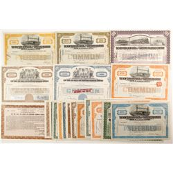The New York, New Haven and Hartford Railroad Co, suite of stocks.  (88917)