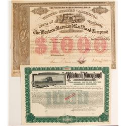 (The) Western Maryland RR Co Bond (2)  (86979)