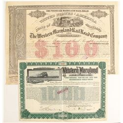 The Western Maryland RR Co Bonds  (87001)